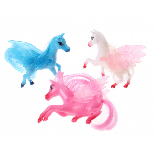 Jonotoys My Beaty Horse Pegasus meisjes 7 cm 3 stuks