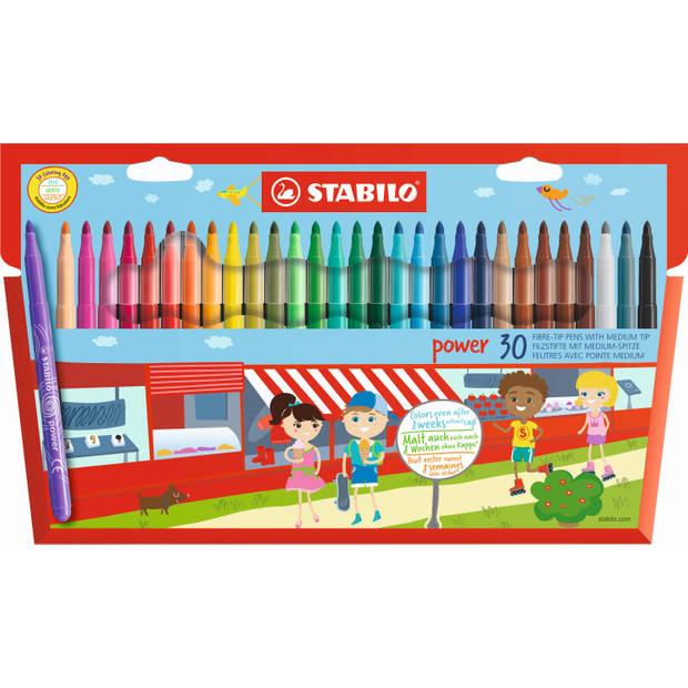 Viltstiften Stabilo power - 30 stuks - Viltstift Stabilo