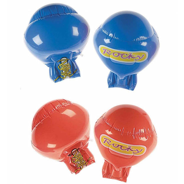 Opblaas Bokshandschoenen 35 cm blauw - Opblaasfiguren