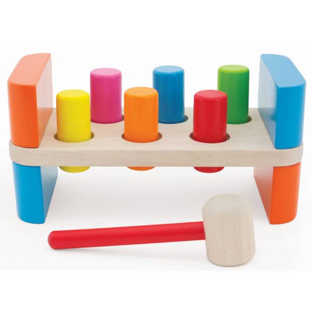 Houten speelgoed Hamerbank