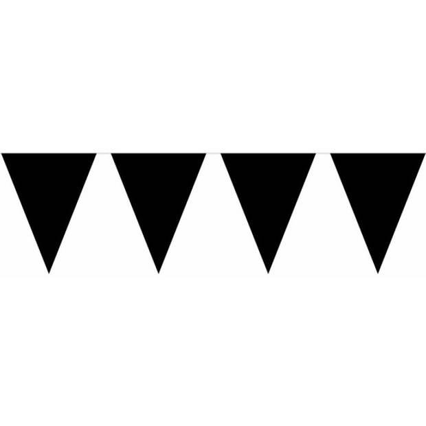 Halloween - Zwarte versiering 15 ballonnen en 2 vlaggenlijnen - Feestpakketten