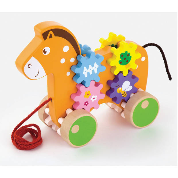 Trekdier New Classic Toys: paard 20x17x5 cm