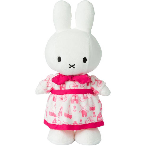 Pluche Nijntje jurkje roze 34 cm