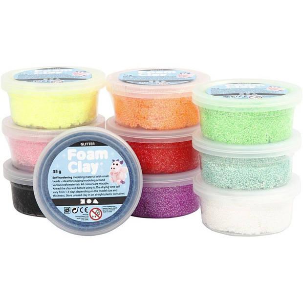 Foam Clay Creotime glitter 10x35 gram
