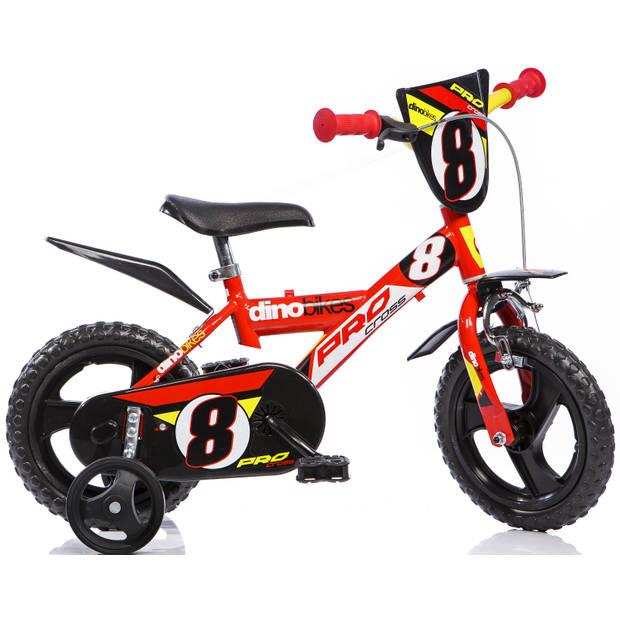 Kinderfiets Dino Bikes Pro-Cross red 12 inch