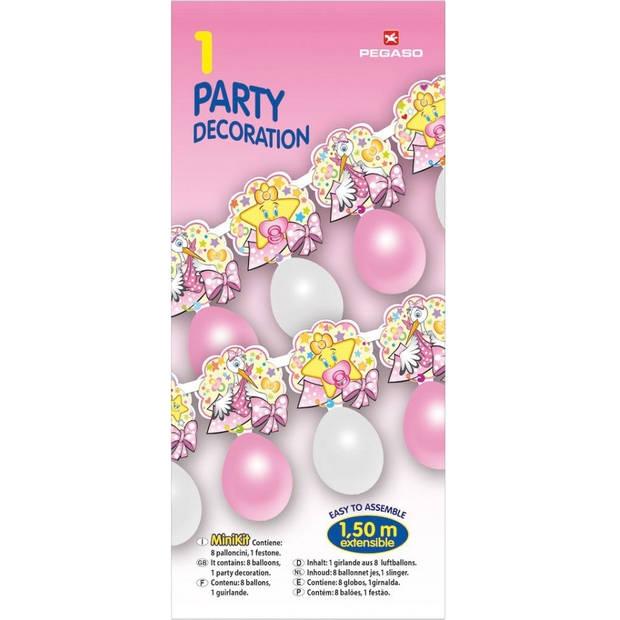 Pegaso ballonnenslinger meisje 150 cm roze