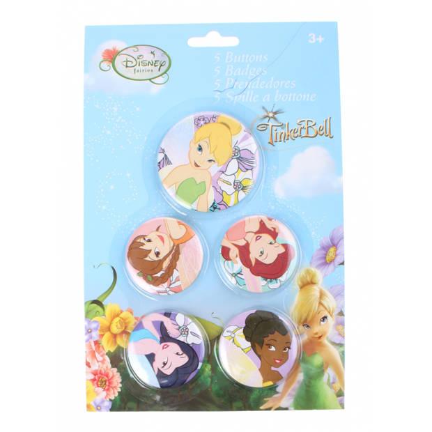 Disney Tinkerbell buttons 5 stuks