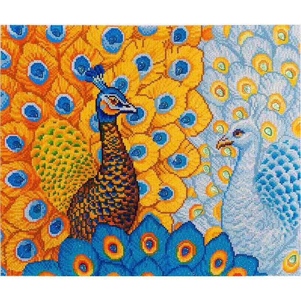 Romantic Peacocks Diamond Dotz - 57x49 cm - Diamond Painting