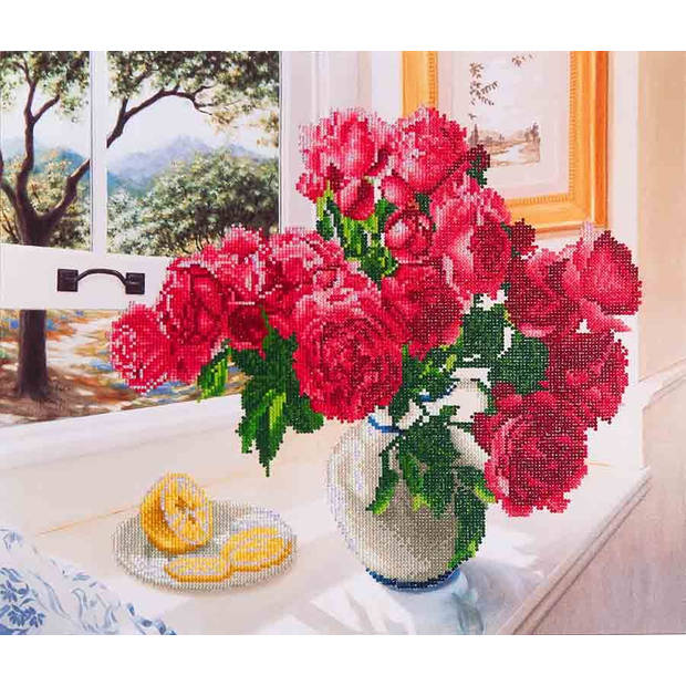 Roses by the Window Diamond Dotz - 57x49 cm - Diamond Painting