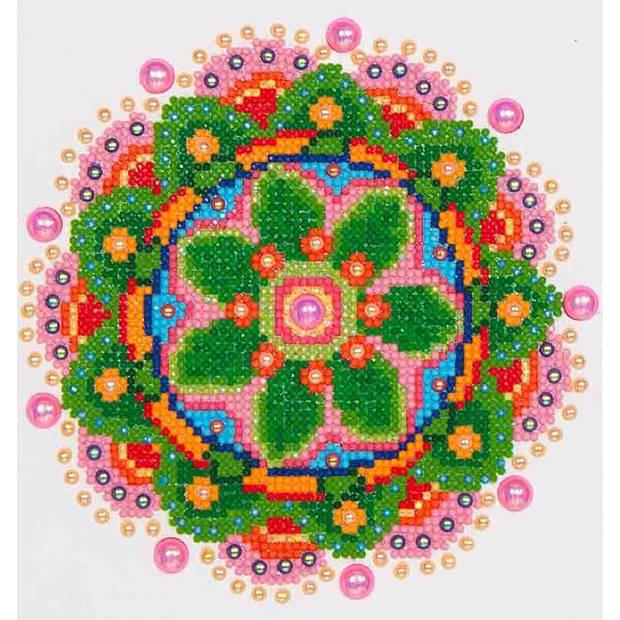Flower Mandala Diamond Dotz - 20x25 cm - Diamond Painting