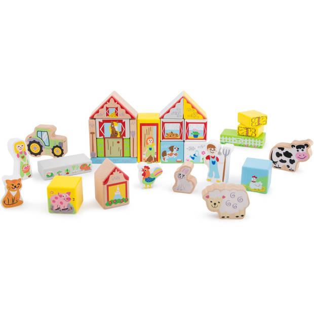 Bouwblokken Boerderij New Classic Toys - Blokken New Classic Toys