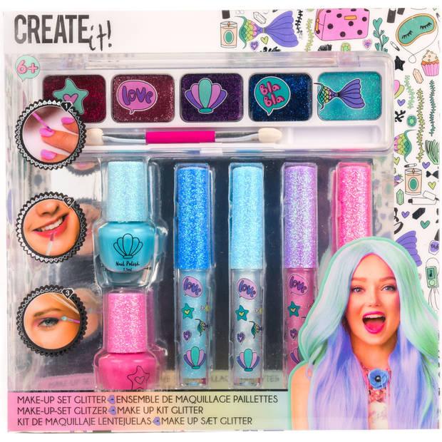 Make-up set Create It glitter 7-delig