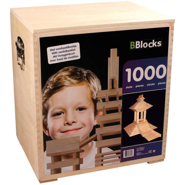 BBlocks 1000 latjes in houten kist