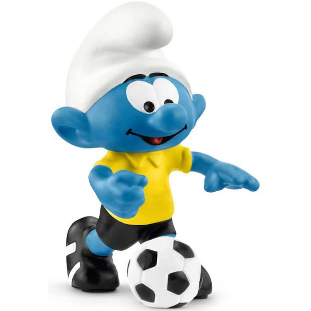 Smurf met voetbal Schleich - Speelfiguur Schleich Smurfen -20806