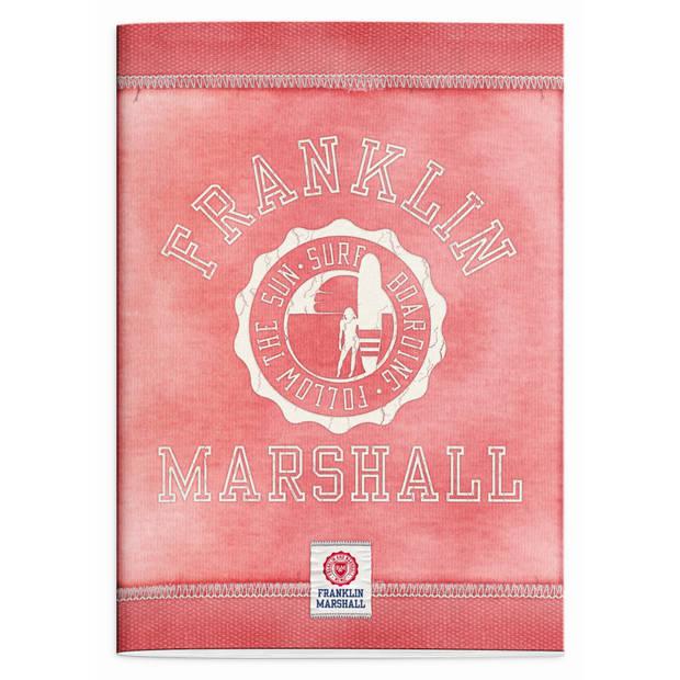 Schrift Franklin Marshall pink A4 geruit