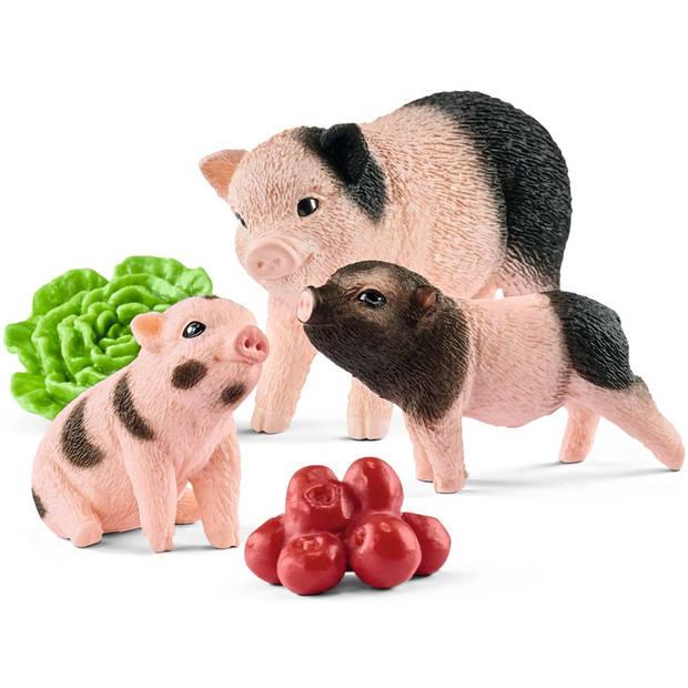 Minivarken en biggetje Schleich - Speelfiguur Schleich Farm World -42422