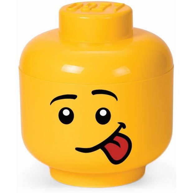 Opbergbox LEGO head boy silly large