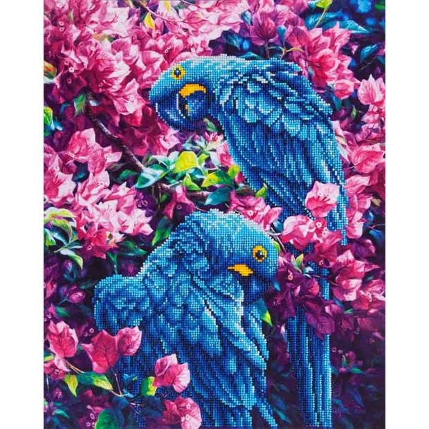 Blue Parrots Diamond Dotz - 52x42 cm - Diamond Painting