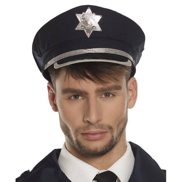 Boland pet politieagent zwart