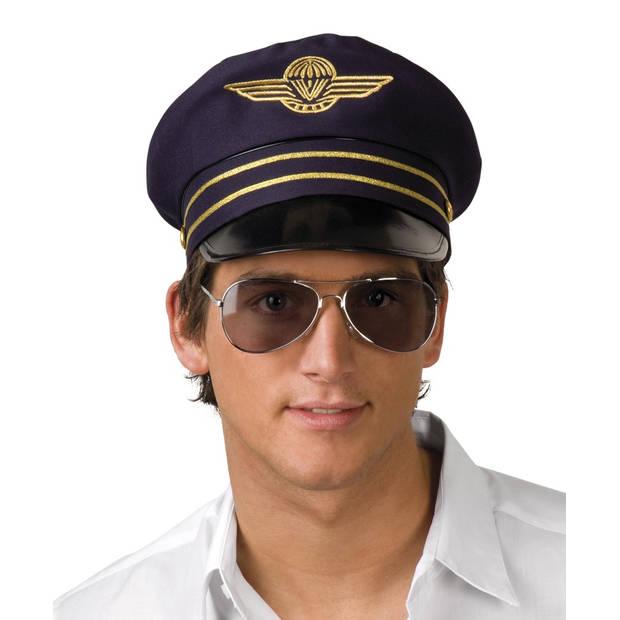 Boland pet Flight Captain heren donkerblauw