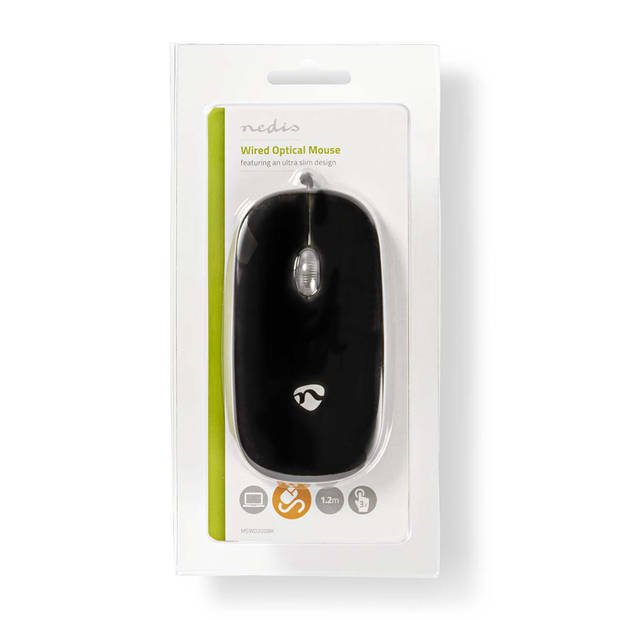 Nedis design 3 knops muis mouse zwart