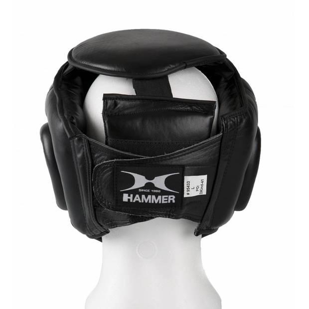Hammer Boxing HOOFDBESCHERMER PROTECT - met Grid - Zwart - Leer - Maat S - Leer