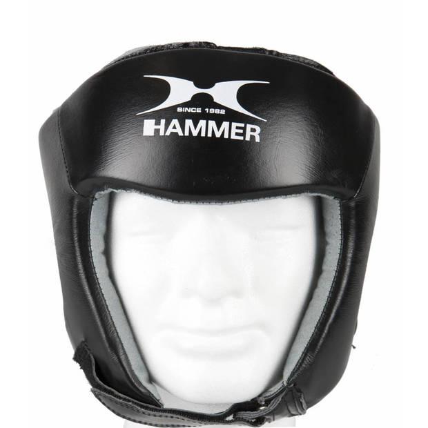 Hammer Boxing HOOFDBESCHERMER FIGHT - Zwart - Maat L - Kunstleer