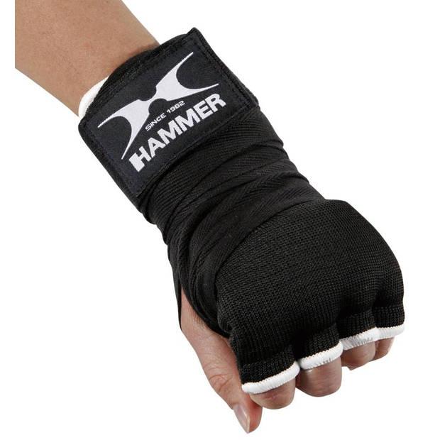 Hammer Boxing BINNENHANDSCHOEN Elastic Fit - zwart - Maat S-M - Nylon