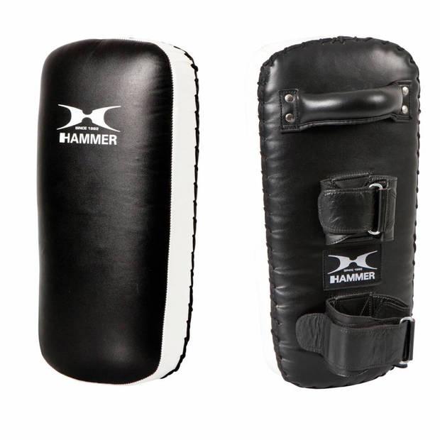 Hammer Boxing Thai Pad Stootkussen Zwart/Wit - Leer
