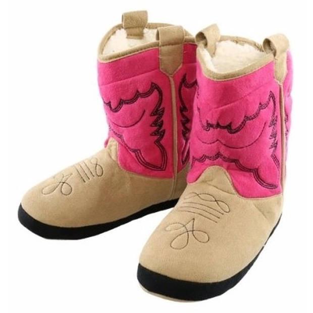 Roze cowboylaars sloffen voor dames L (37-39) - Sloffen - volwassenen