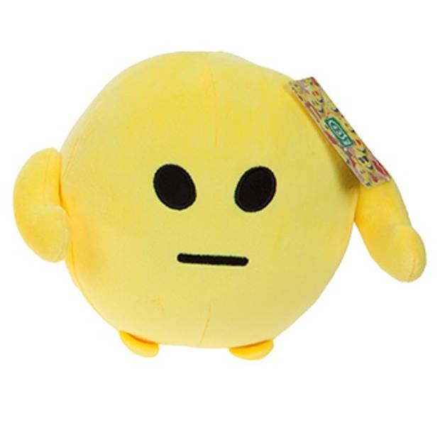 Kamparo knuffel Imoji Ball droevig 18 cm pluche geel