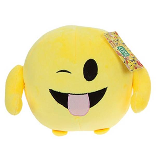 Kamparo knuffel Imoji Ball tong uitstekend 18 cm geel