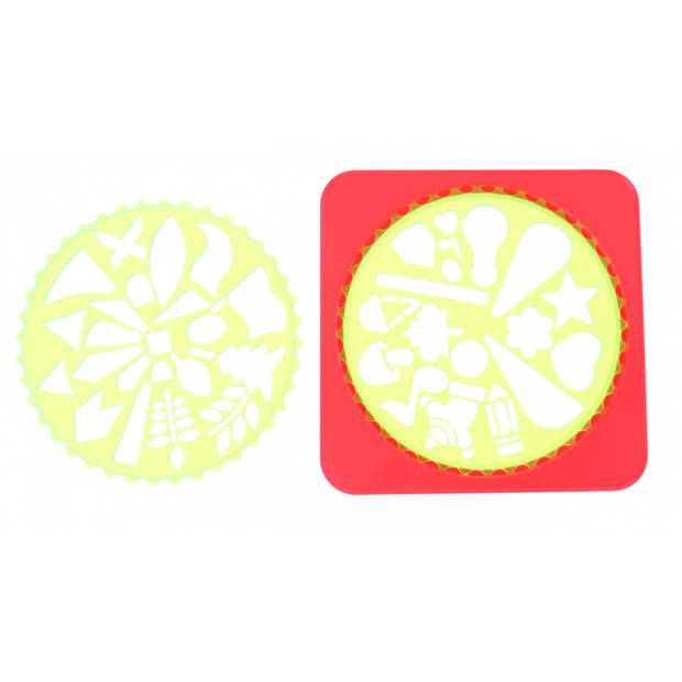 Jonotoys spiraalset Art Design rood/groen 9-delig