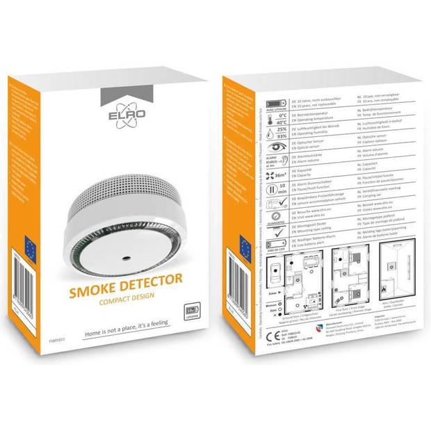 ELRO FS8010 Rookmelder Compact Design 10 Jaar Batterij - Voldoet aan EN 14604