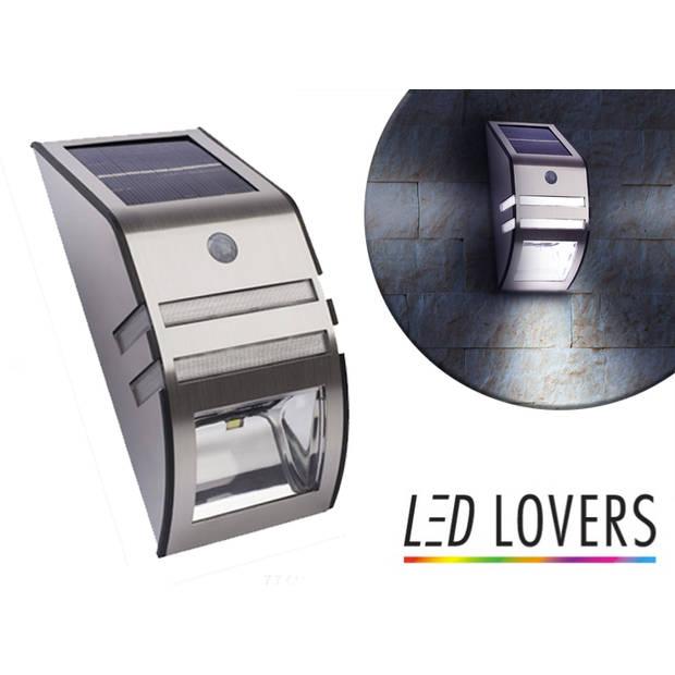Draadloze Led Lamp met bewegingssensor - RVS - Weersbestendig