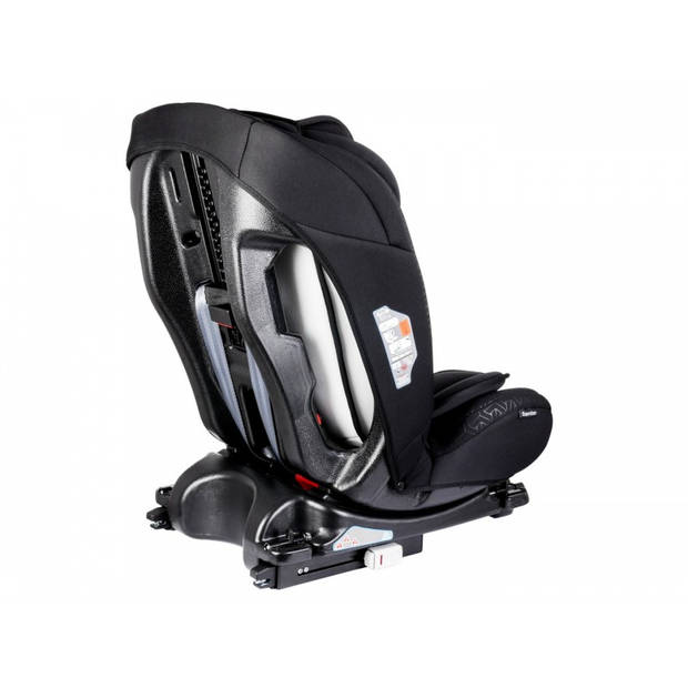 Lionelo Sander - Autostoel 0-36kg Isofix (voorwaarts en achterwaarts te plaatsen) toptether met ligstand grijs