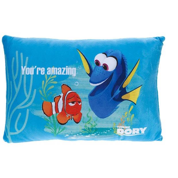 Kamparo kussen Finding Dory: You're Amazing! 40 x 26 cm blauw