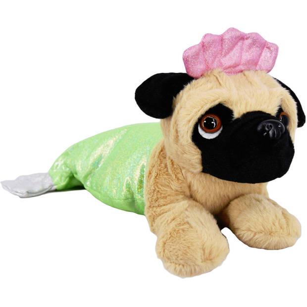 Kamparo pluchen hondenknuffel in kostuum 40 cm groen