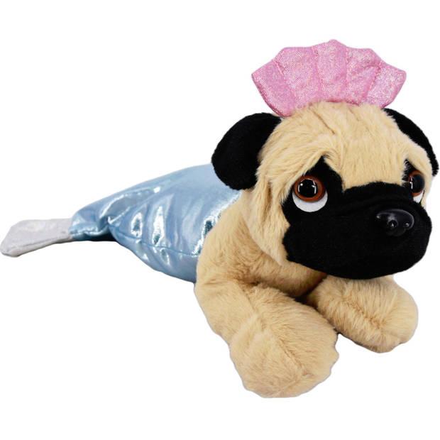 Kamparo pluchen hondenknuffel in kostuum 40 cm blauw