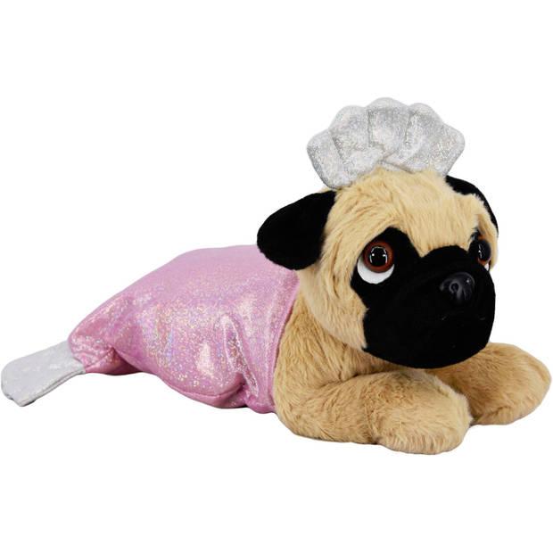 Kamparo pluchen hondenknuffel in kostuum 40 cm roze