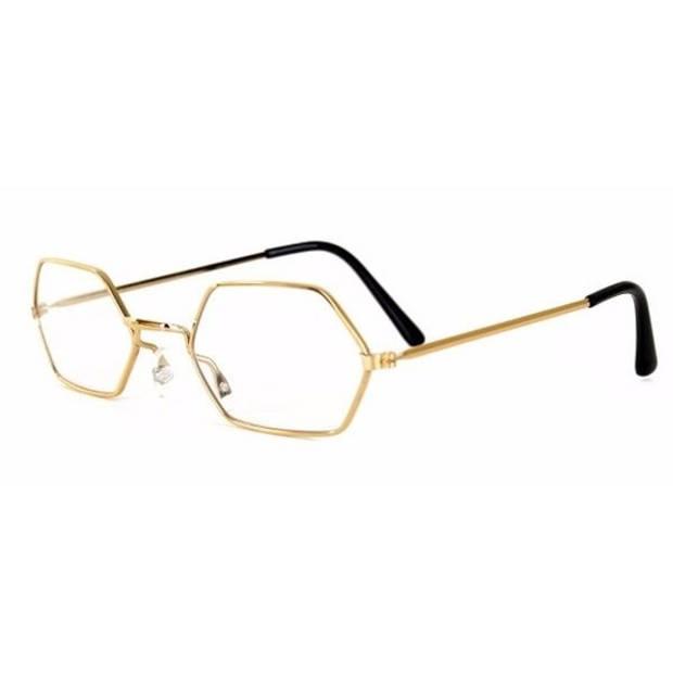 Sinterklaas leesbril goud - Verkleedbrillen