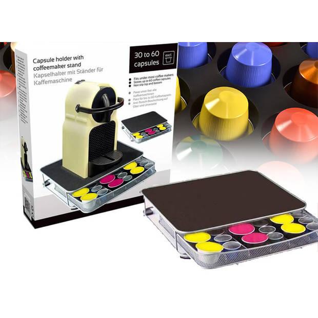Capsulehouder met standaard voor koffiezetapparaat - Houder voor 60 koffiecapsules