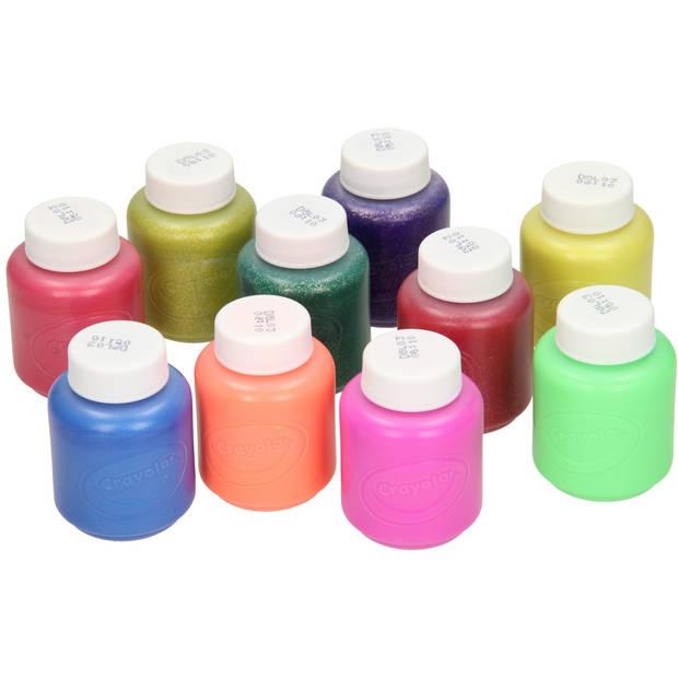 10 Potjes afwasbare verf met special effects