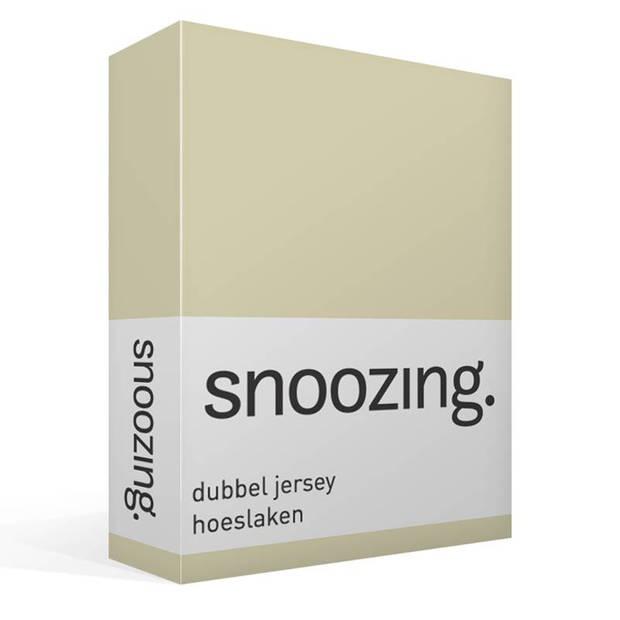 Snoozing - Dubbel Jersey - Hoeslaken - Eenpersoons - 90x210/220 cm - Zand