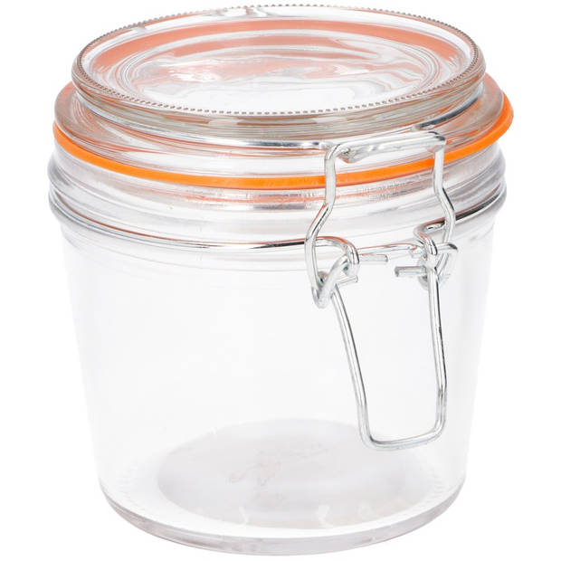 Weckpot met beugelsluiting 350 ml - Voedsel bewaren pot - Klempot - Transparant glas
