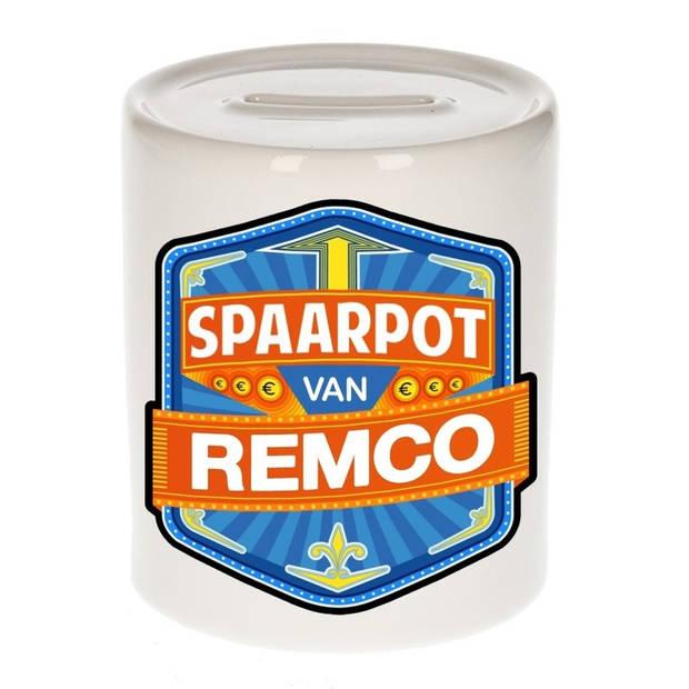 Kinder spaarpot voor Remco - Spaarpotten