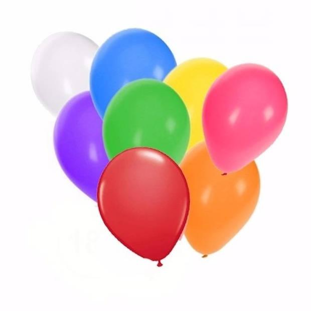 Gekleurde ballonnen 12 stuks - Ballonnen
