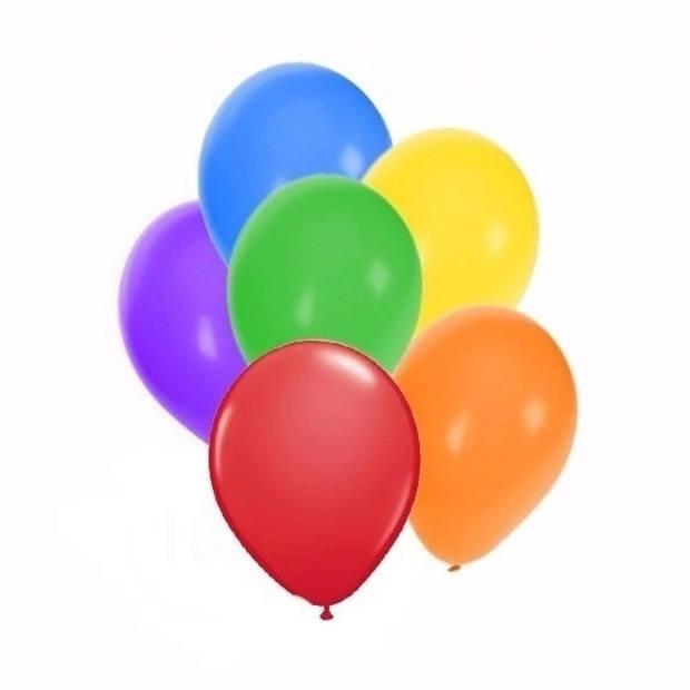 Gekleurde ballonnen 18 stuks - Ballonnen