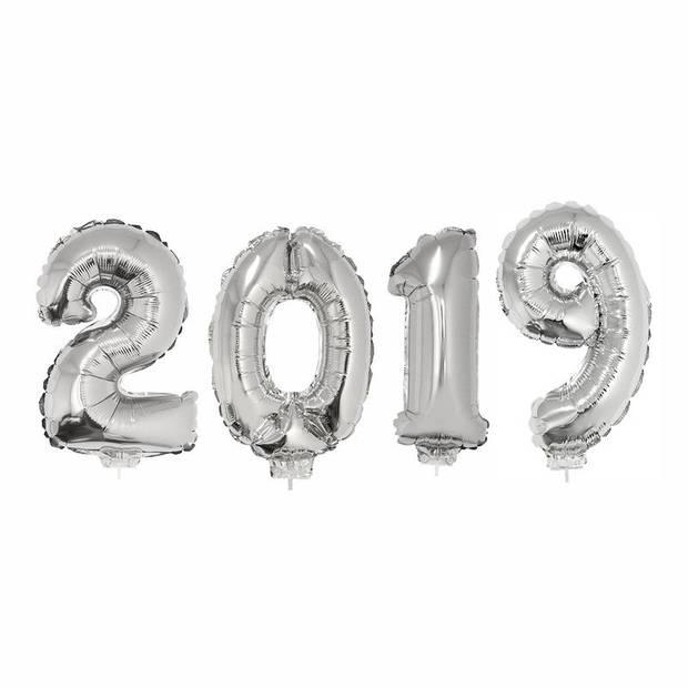 Zilveren 2019 ballonnen voor Oud en Nieuw - Ballonnen