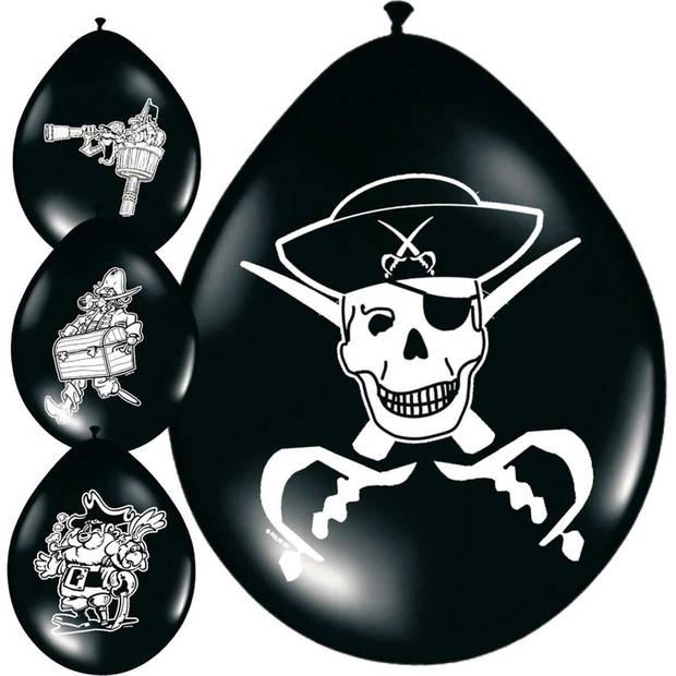 16x Piraten ballonnen - Ballonnen